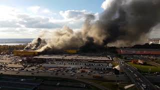 Пожар на рынке Синдика. Строгино