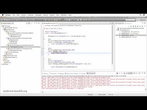 REST Web Services 19 - Implementing POST...