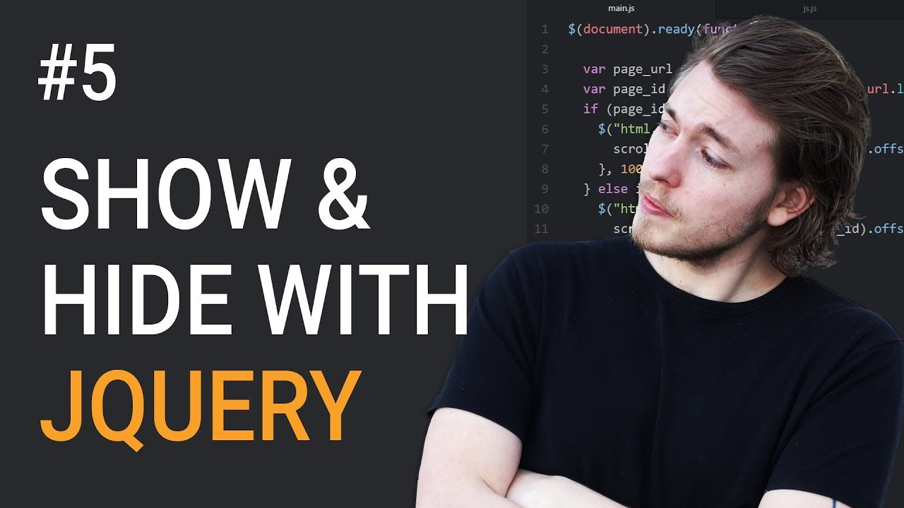 5: How to make elements appear and disappear in jQuery - Learn jQuery  front-end programming