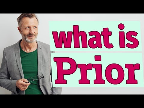 Prior | Meaning of prior