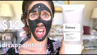 The Ordinary 's NEW Salicylic Acid 2% Masque Review & First Impressions (Acne Mask With Charcoal)