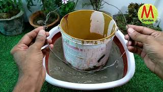 How to make cement pot making at home