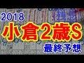 小倉2歳ステークス 2018 最終予想 【競馬予想】