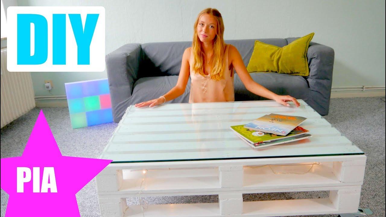 Paletten Tisch Selber Bauen Ganz Einfach Schnell Mit Pia Youtube