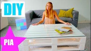 Paletten Tisch selber bauen ! Ganz einfach & schnell ! Mit PIA