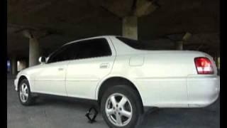 Toyota Cresta съезжает с домкрата (TRC Test)