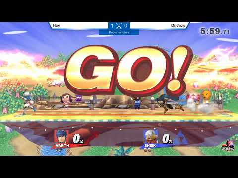 Pools - Hoe [Meta Knight, Marth] vs. Dr. Crow [Sheik] - Smash ULtime 4