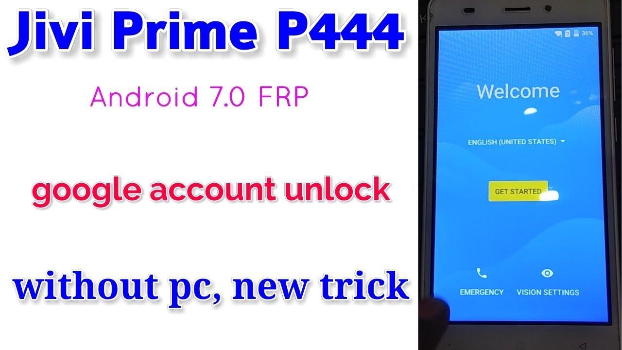 Jivi P444 google account unlock, without pc || Verified Tricks