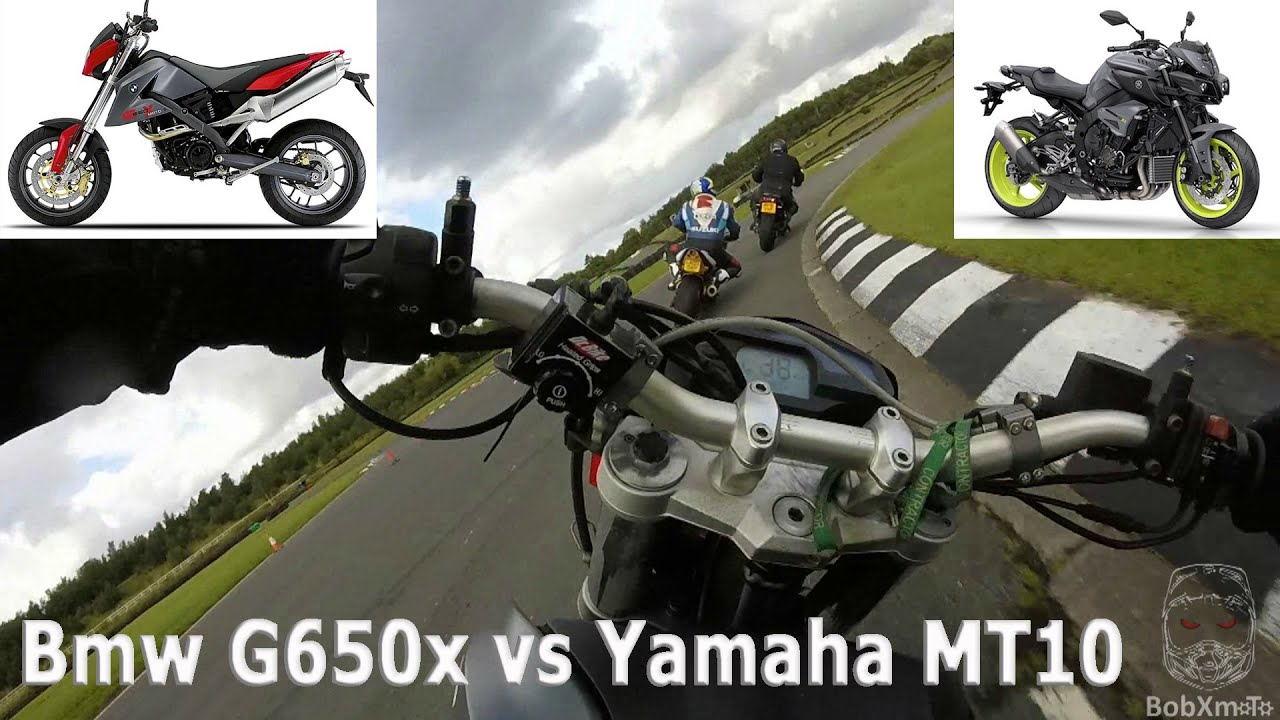 Yamaha Mt10 Vs Bmw G650 Xmoto On Track Youtube