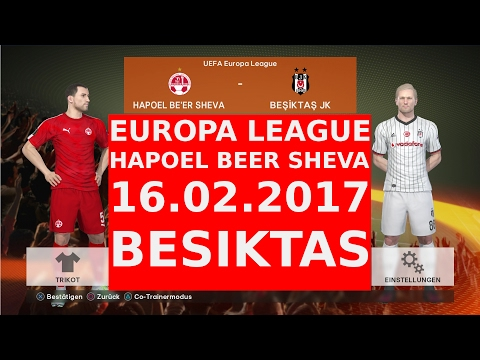 EUROPA LEAGUE 16.02.2017 HAPOEL BEER SHEVA VS BESIKTAS ISTAN