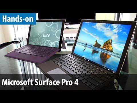 Microsoft Surface Pro 4 - Hands-on & Vergleich mit Surface Pro 3 | deutsch / german