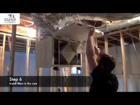 Martell Home Builders- How To Clean HRV filter