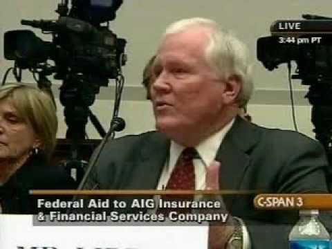 Alan Grayson Questions CEO Edward Liddy on AIG Cover-up