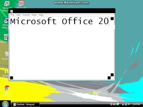 windows vista in 4 bit and 8 bit color youtube