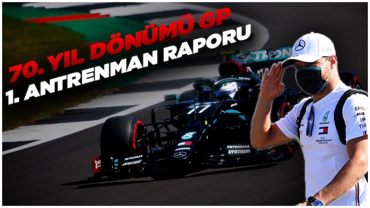 F1 2020 70. Yıl Dönümü GP 1. Antrenman Raporu: Bottas, Hamilton'ın önünde lider