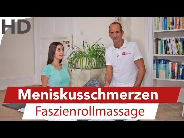 Meniskus Schmerzen // Übungen gegen Knieschmerzen mit der Faszienrolle