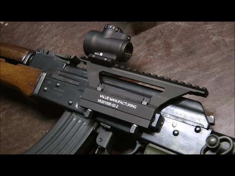 Installing Value Manufacturing AK Sight Rail System on a stamped steel  receiver AK