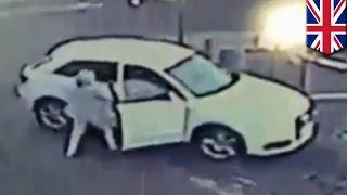 Пожилая женщина отбилась от угонщика машины