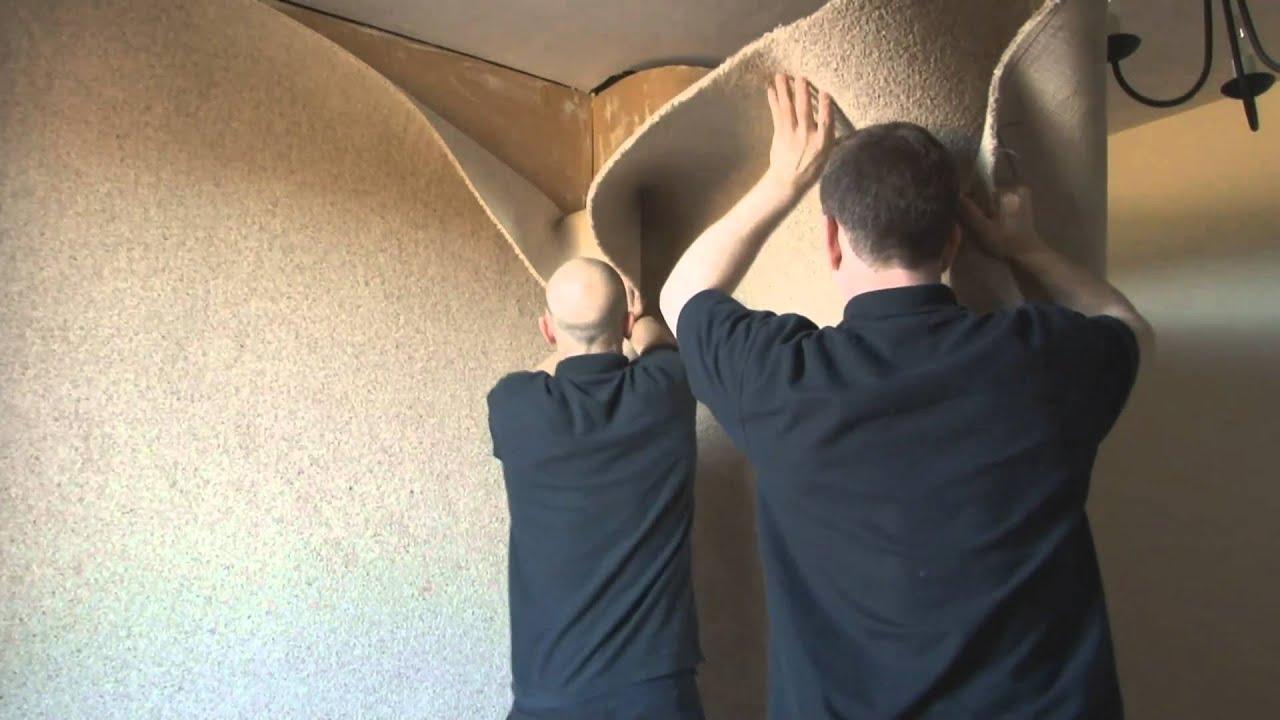 Carpeting a Wall.wmv - YouTube