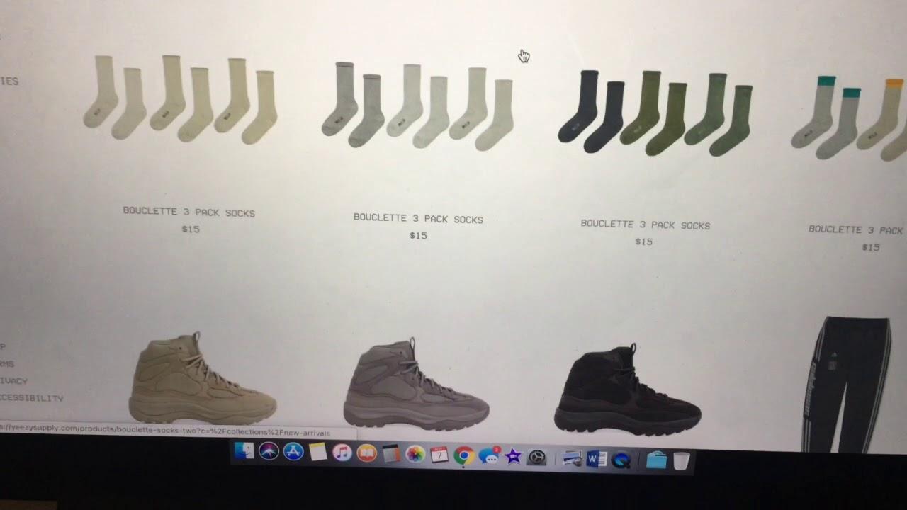 my Calabasas Yeezy Season 6 Socks