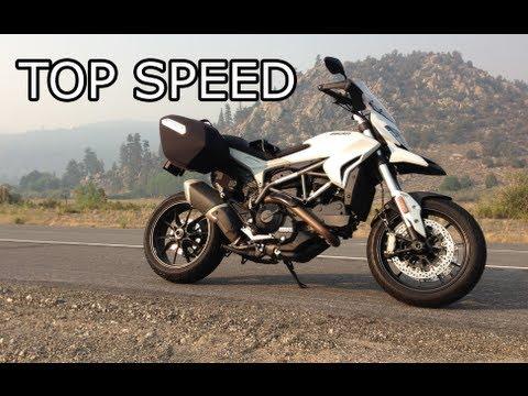 2013 ducati hyperstrada top speed - youtube