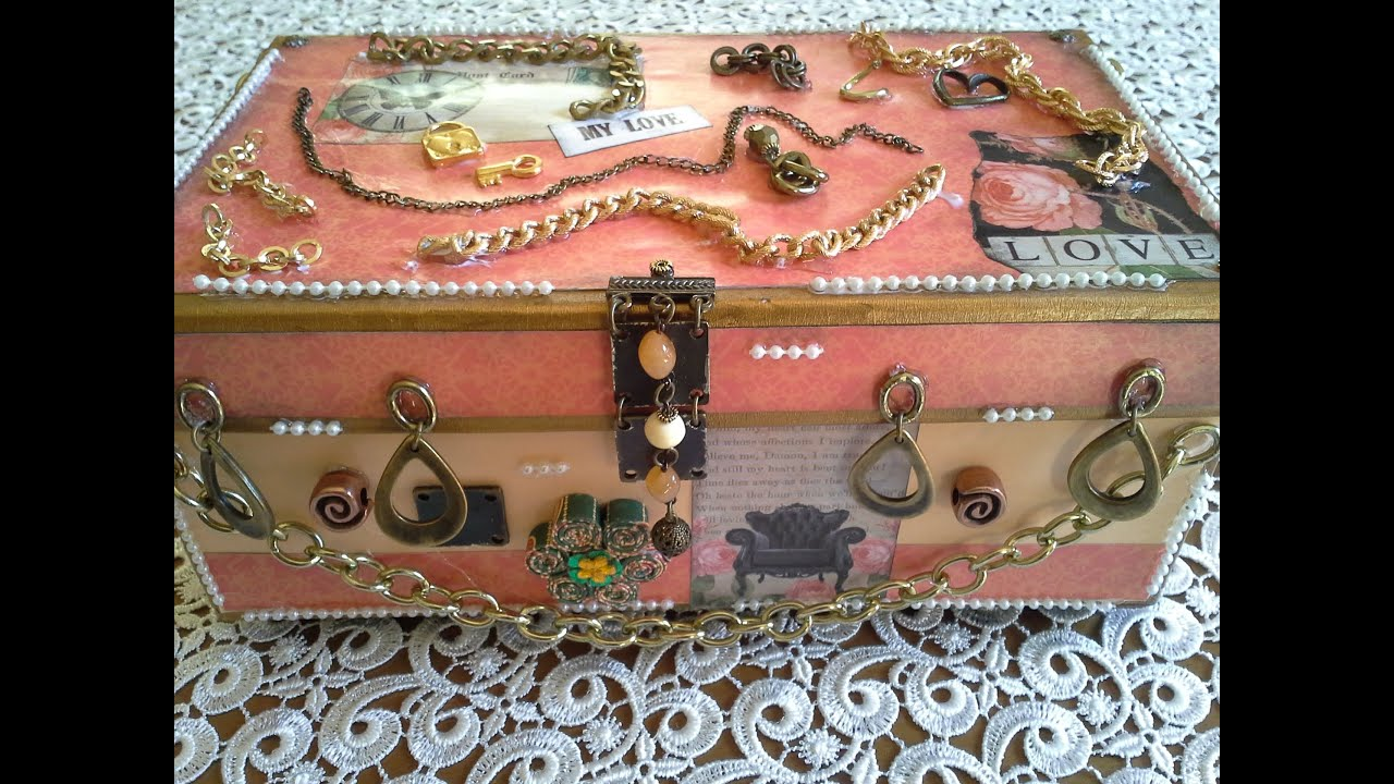 Shoe Box With Chains Altered Shoe Boxes Series Tutorial No4   YouTube