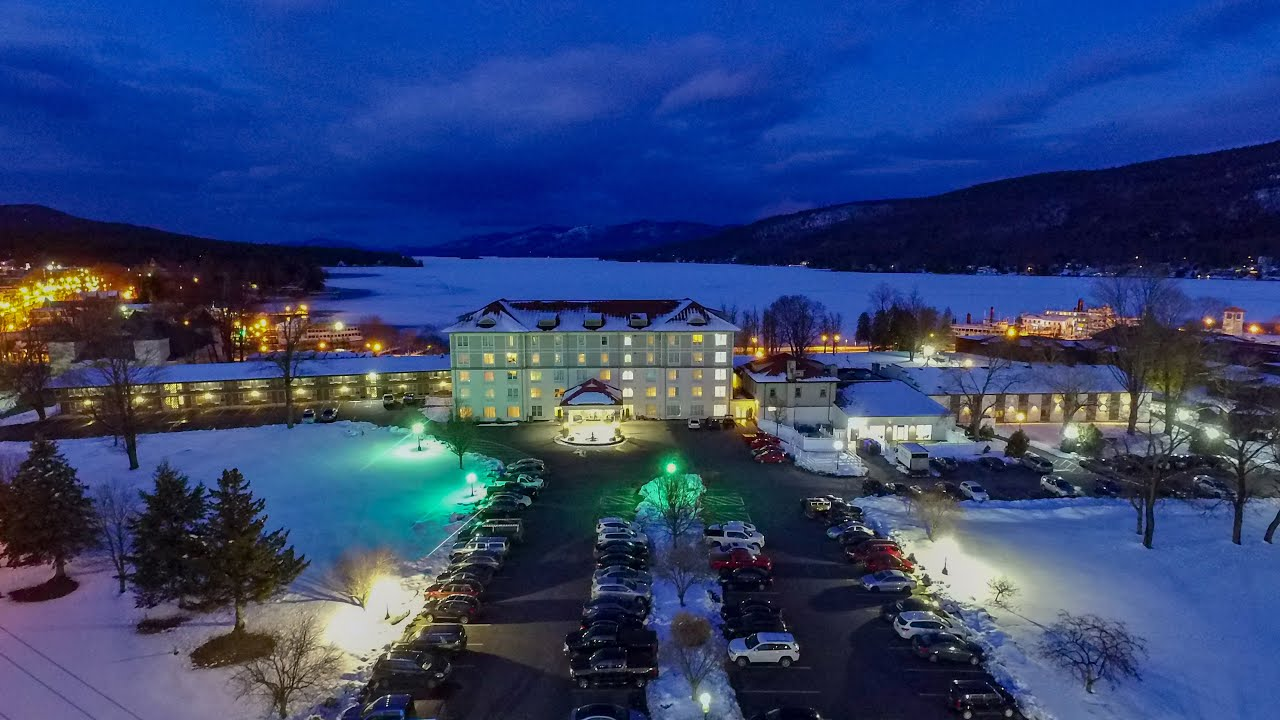 Lake George Winter Getaway- Drone Video