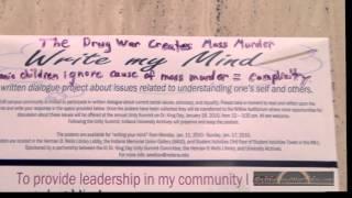 IU Students Are Satanic Mass Murderers!  Write your Mind!  Herman B Wells Library (2010)