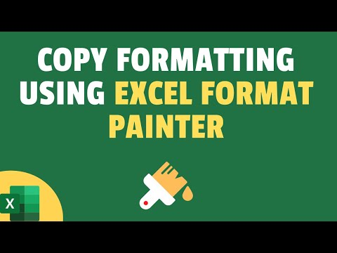 how to use format painter in excel video