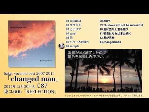「changed man / baker vocaloid best 2007-2014」 CD demo
