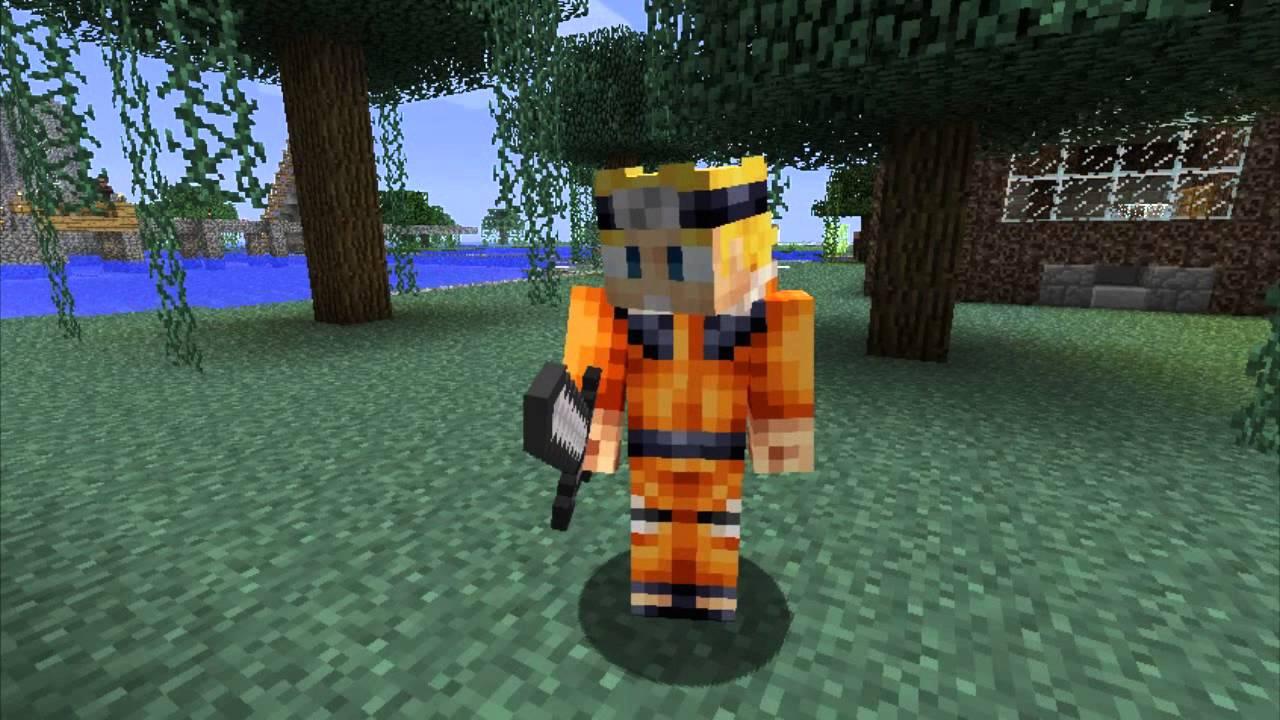 Minecraft Skins Naruto YouTube - Baixar skins para minecraft pe naruto