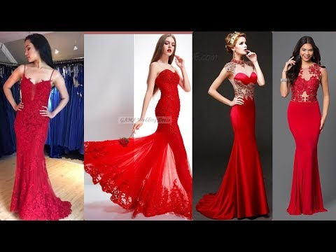 TOP 10 GORGEOUS RED EVENING DRESSES 2019    PROM DRESSES    GOWNS