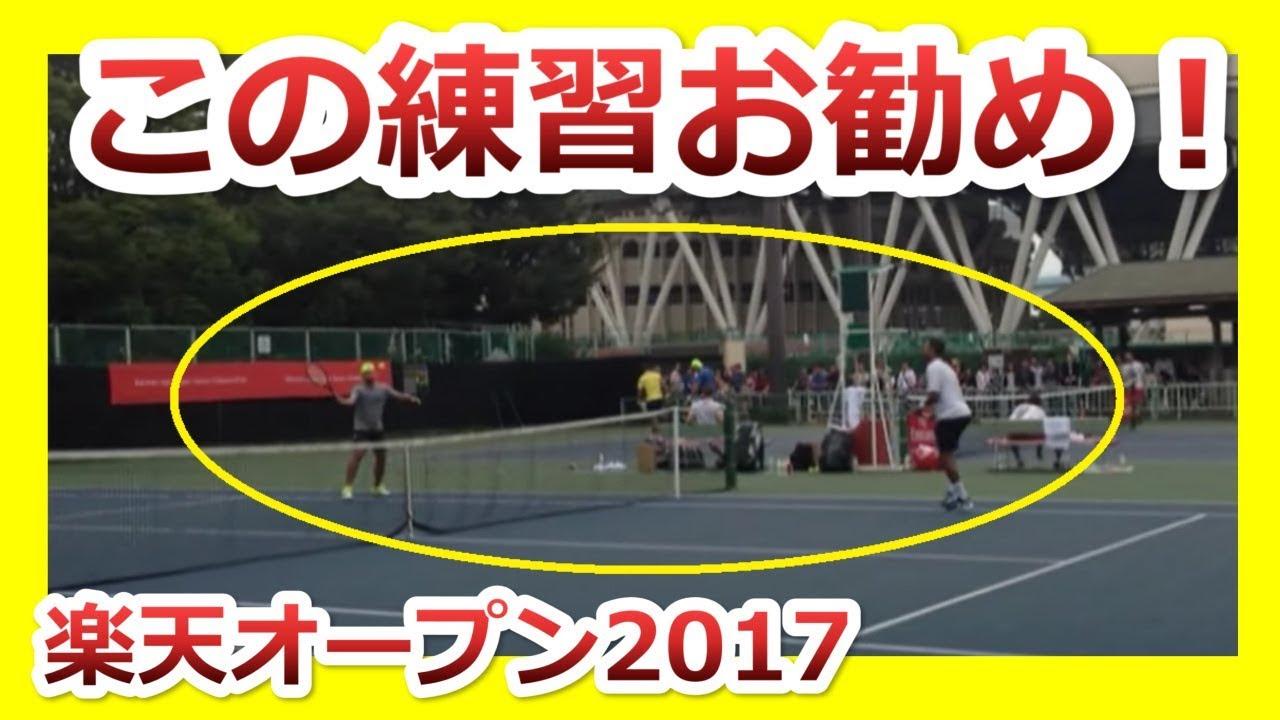 楽天オープンテニス2017 楽天ダブルス出場選手のボレー