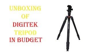 unboxing digitek DTR-500bh multi-purpose ball head tripod