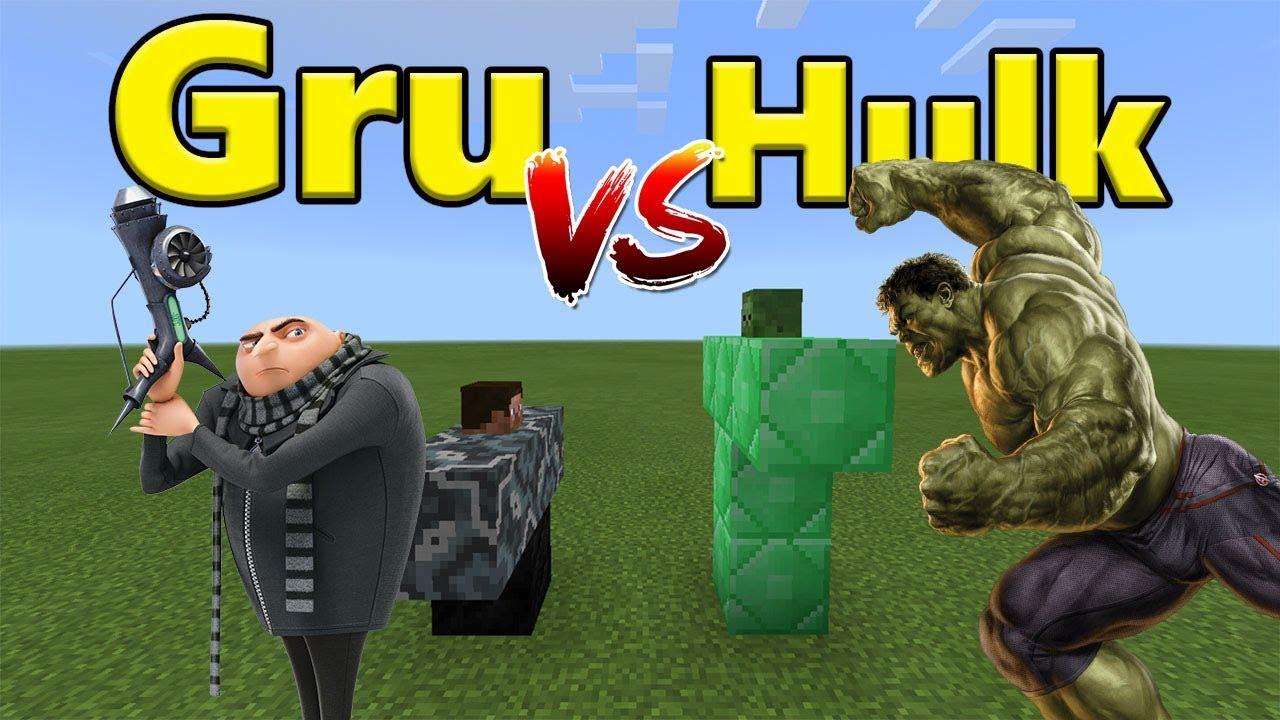GRU vs HULK | Minecraft PE