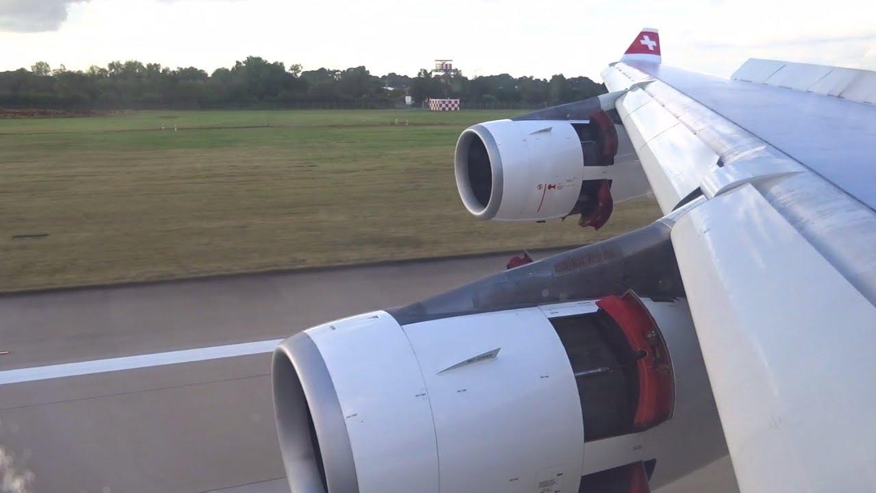 Swiss A340-300 - Hard Landing into Dusseldorf Flughafen
