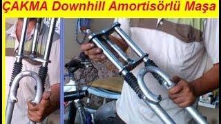 Gambar cover ÇAKMA Downhill Amortisörlü Maşa / Klasik Bisiklete Montaj / Bisiklet Modifiye