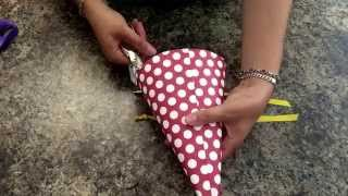 DIY party hat! Minnie Mouse birthday hat and rainbow birthday party hat!