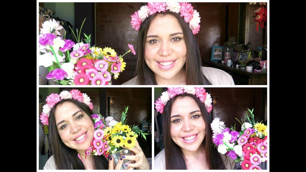 DIY Como Hacer Una Corona De Flores