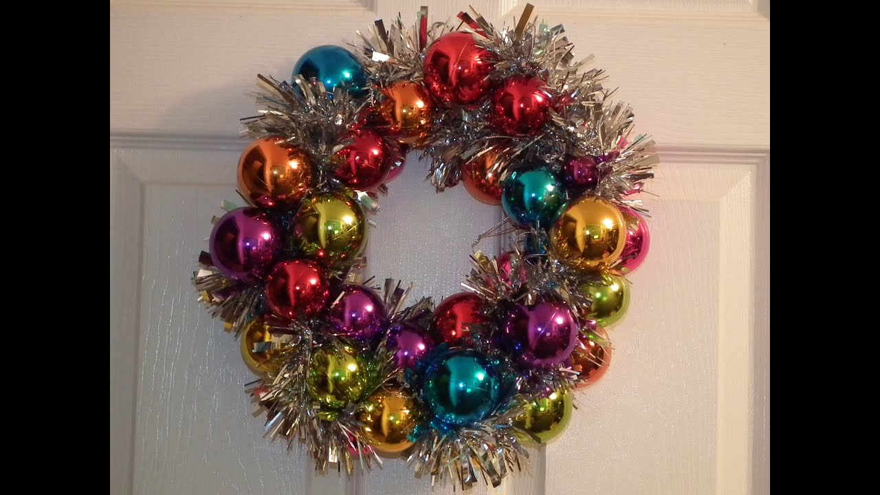 How to make a christmas bauble wreath youtube Making wreaths