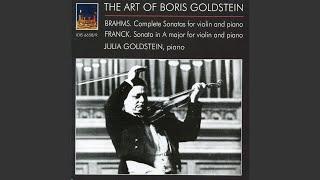 Violin Sonata No. 3 in D Minor, Op. 108: III. Un poco presto e con sentimento