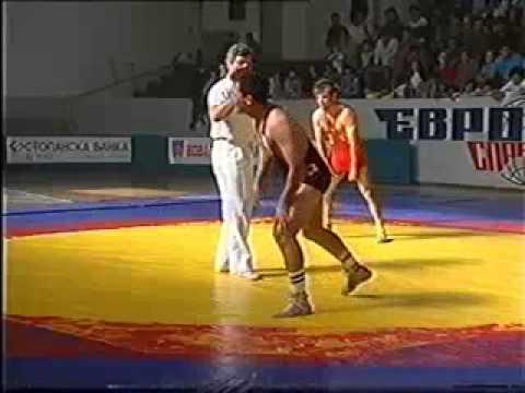 74 кг. Гуцов Влатко (Спартак) Vs Марјан Атанасов (Балканец), Лига Натпревар 1993 год.