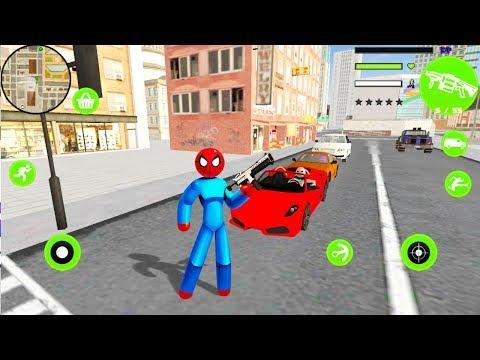 Spider StickMan Rope Hero Mafia Gangster Vegas 홍보영상 :: 게볼루션