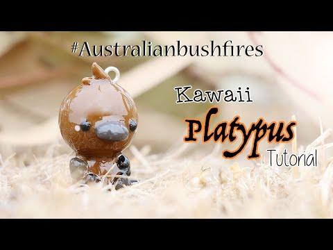 Kawaii Platypus│Polymer Clay Tutorial