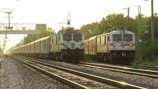 तेज रफ्तार बिलासपुर राजधानी ने किया गोवा एक्सप्रेस को ओवरटेक। Bilaspur Rajdhani overtakes Goa Exp