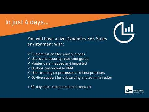 Dynamics 365 Sales 4-Day Start Up Implementation Offer | Western Computer