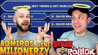 🅰🅳🅼🅸🆁🅾🆂 vs 🆅🅴🅽🅸 - Milionerzy-Youtuberzy - Quiz ROBLOX + Brawl Stars - Veni Gaming
