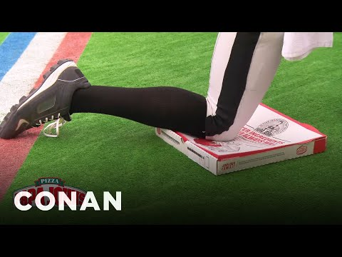 Papa John's New Kneeling Pizza  - CONAN on TBS
