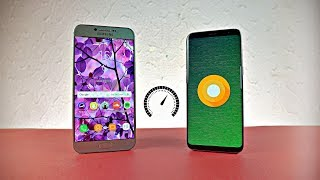 Samsung Galaxy A8 Android 7.0 Nougat vs Galaxy S8 Android 8.0 Oreo - Speed Test!