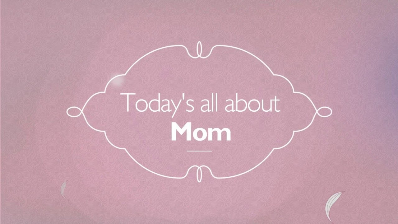 Happy Mothers Day Video Greeting Card Template Wideo Youtube